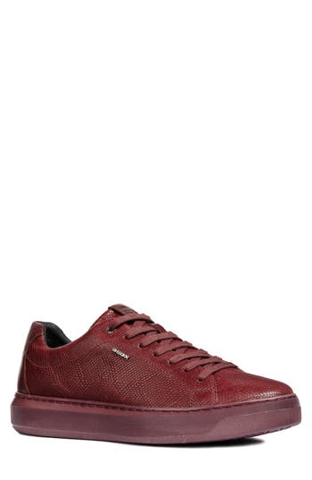 Geox Deiven 7 Snake Embossed Low Top Sneaker