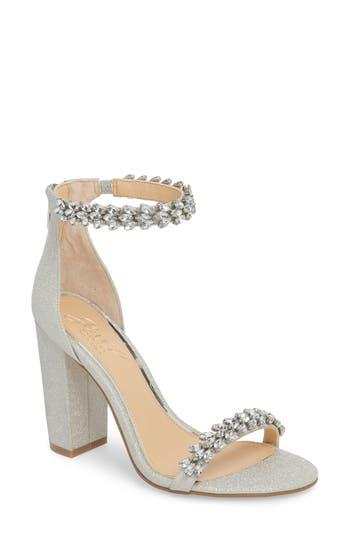 Jewel by Badgley Mischka Mayra Embellished Ankle Strap Sandal