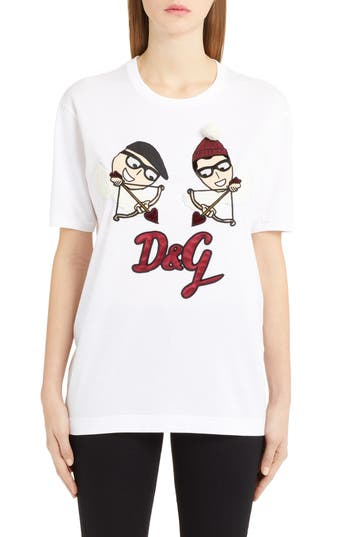DOLCE & GABBANA CARTOON LOGO TEE