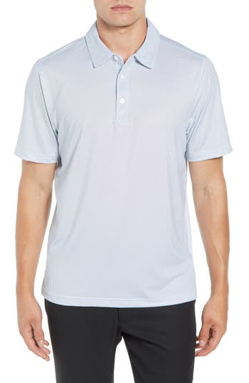 Cutter & Buck Harbor Print DryTec Moisture Wicking Polo