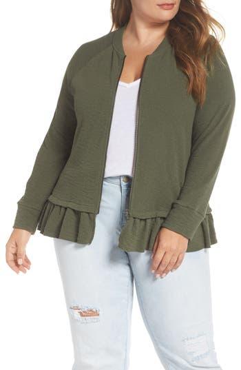 Caslon® Knit Peplum Jacket