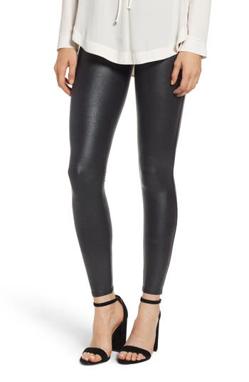 SPANX® Pebbled Faux Leather Leggings