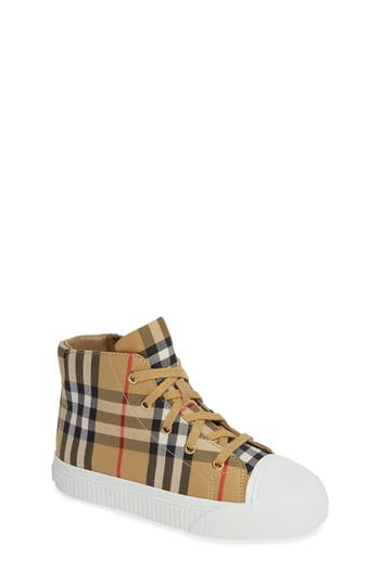 Toddler Burberry Belford HighTop Sneaker Size 13US  31EU  White