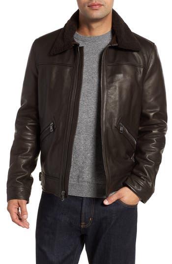 Andrew Marc Kilmer Genuine Shearling Bomber Jacket