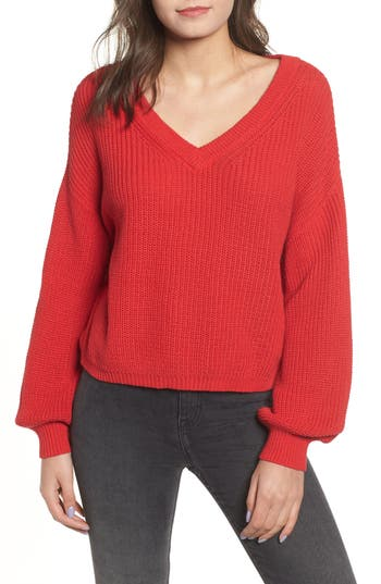 BP. V Neck Cotton Sweater