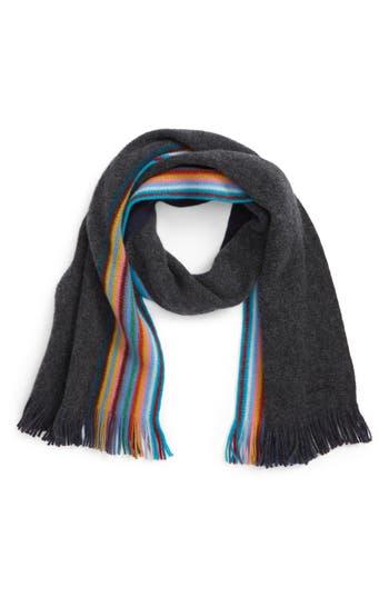 Paul Smith Stripe Wool Scarf