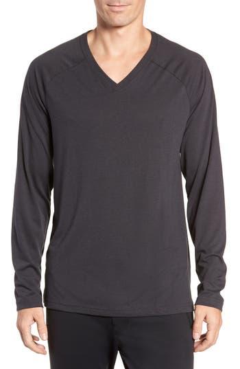 Alo Triumph Long Raglan Sleeve V-Neck T-Shirt