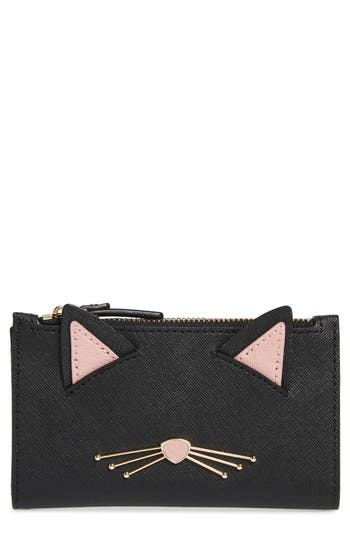 kate spade new york cats meow mikey leather wallet