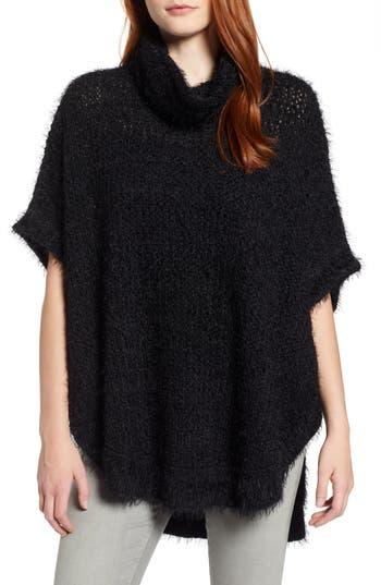 Caslon® Eyelash Knit Poncho Sweater