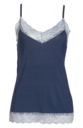 Women's Flora Nikrooz Snuggle Camisole, Size X-Small - Blue