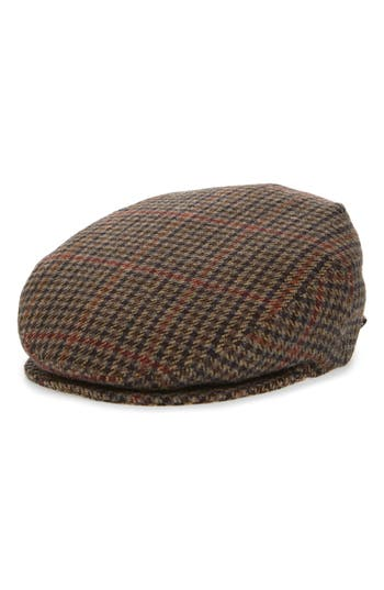 Bailey Lord Houndstooth Wool Driving Cap