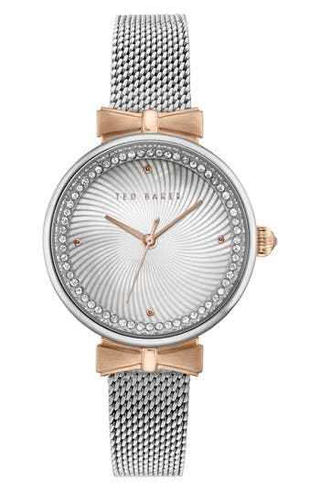 Ted Baker London Jessica Mesh Strap Watch, 30mm