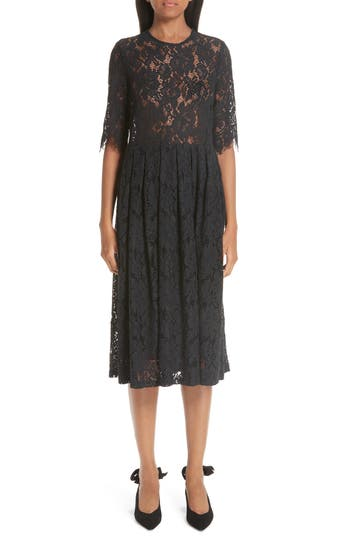 Ganni Cotton Blend Lace Dress