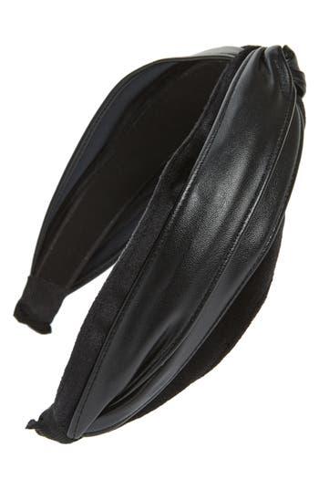 Cara Faux Leather Twist Headband