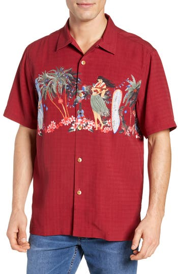 Tommy Bahama Mele Kalikimaka Silk Camp Shirt