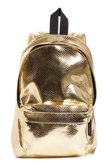 Comme des Garçons Small Metallic Faux Leather Backpack