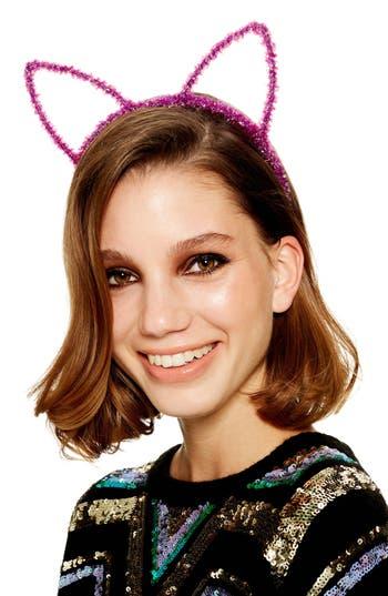 Topshop Tinsel Cat Ear Headband