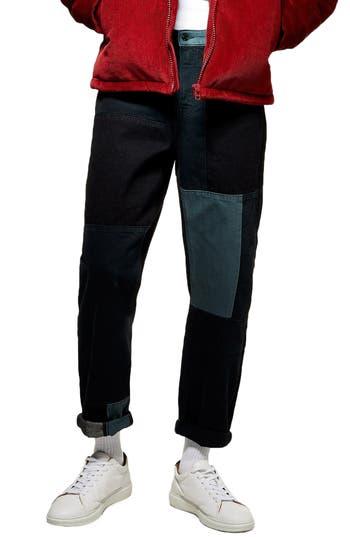 Topman Kobe Patch Original Fit Nonstretch Jeans