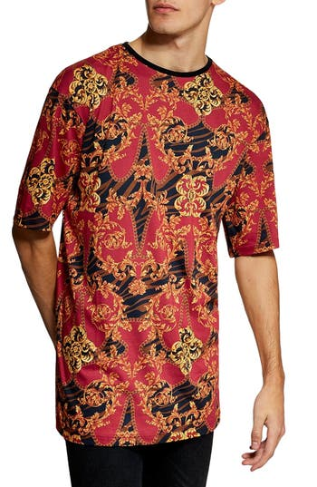Topman Oversize Fit Baroque T-Shirt