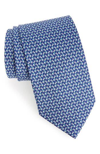 Salvatore Ferragamo Fred Print Silk Tie
