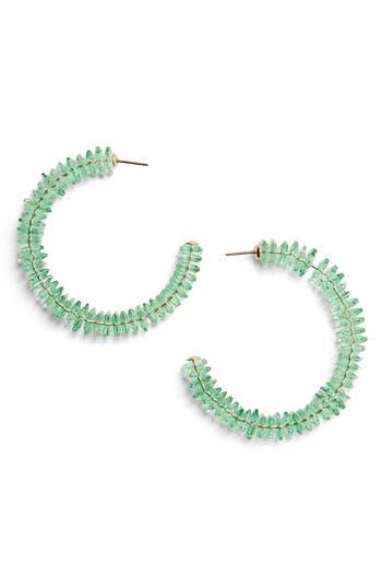 BaubleBar Caylie Crystal Hoop Earrings