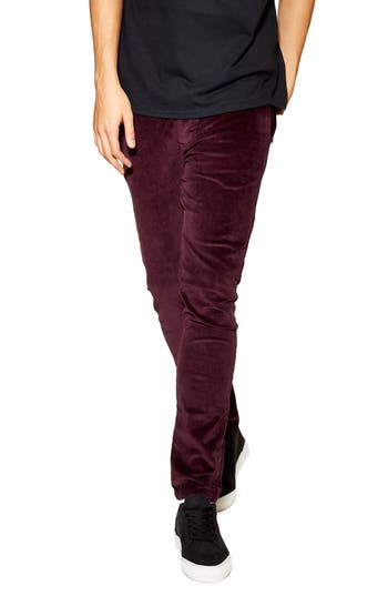 Topman Stretch Skinny Fit Corduroy Pants