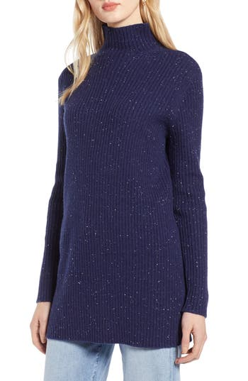 Halogen® Funnel Neck Ribbed Tunic
