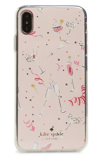 kate spade new york jeweled champagne iPhone X/Xs/Xs Max & XR case
