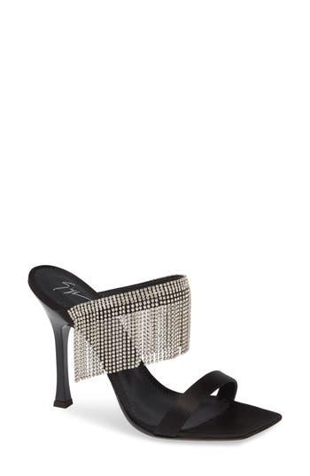 Giuseppe Zanotti Swarovski Crystal Fringe Sandal