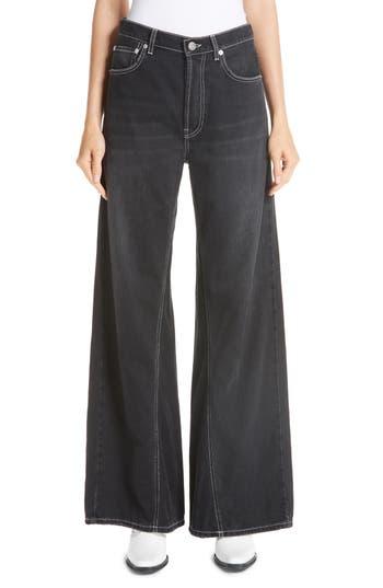 Ganni Black Washed Denim Jeans