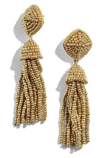 BaubleBar Rubina Beaded Tassel Earrings