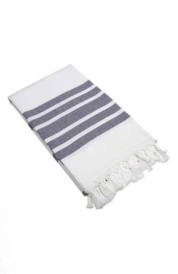 Linum Home Textiles Herringbone Striped Turkish Pestemal Towel, Size One Size - Grey