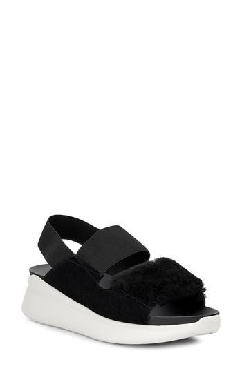 UGG® Silverlake Sneaker Sandal with Genuine Shearling Trim
