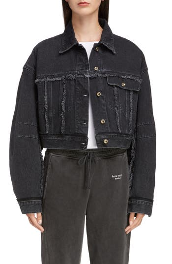Acne Studios Oriana Crop Denim Jacket