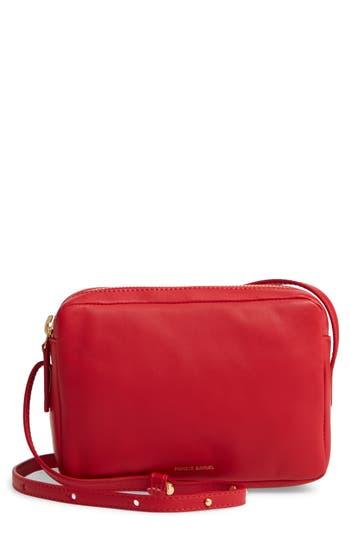 MANSUR GAVRIEL Double Zip Lambskin Leather Crossbody Bag
