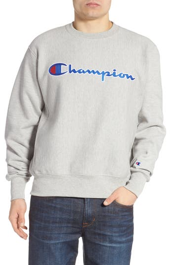Champion Chainstitched Script Logo Crewneck Sweatshirt