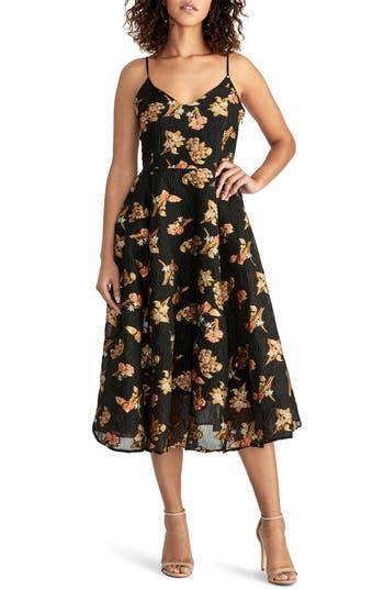 RACHEL Rachel Roy Organza Fit & Flare Dress