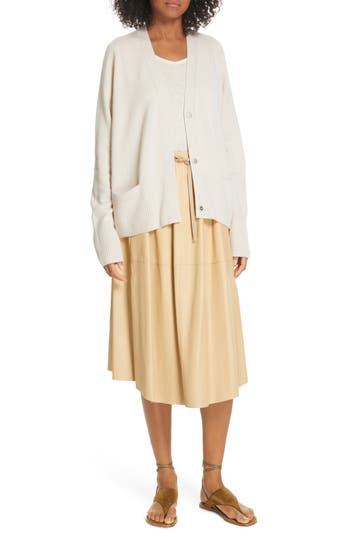 Vince Lambskin Leather Skirt
