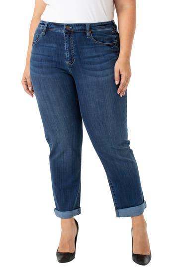 Liverpool Peyton Boyfriend Slim Fit Jeans (Edgewater) (Plus Size)