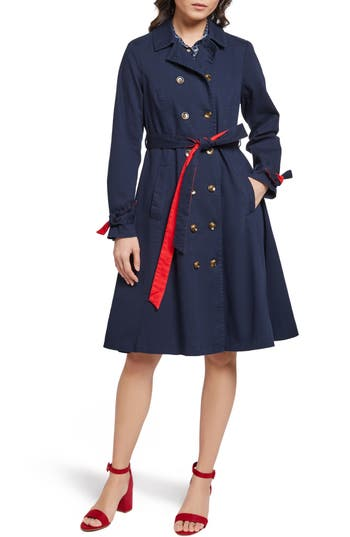 ModCloth Contrast Belt Trench Coat