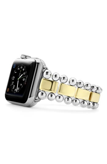 LAGOS Smart Caviar Sterling Silver & 18K Gold Band for Apple Watch®