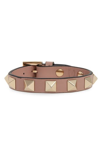 Valentino Rockstud Small Leather Bracelet