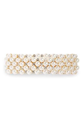 Tasha Crystal & Imitation Pearl Embellished Barrette
