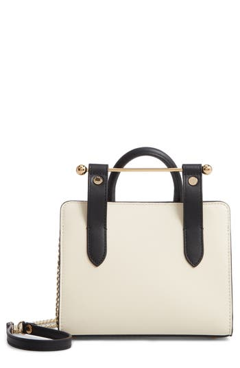 Strathberry Nano Bicolor Leather Tote