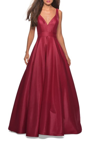 La Femme Mikado Evening Dress