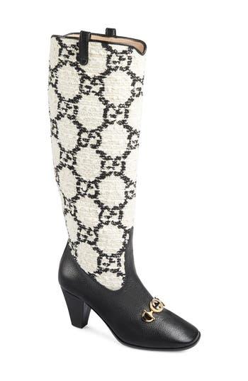 Gucci Zumi GG Tweed Knee High Boot (Women)