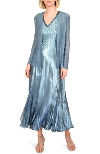 Komarov Embellished Midi Dress with Jacket (Regular & Petite)