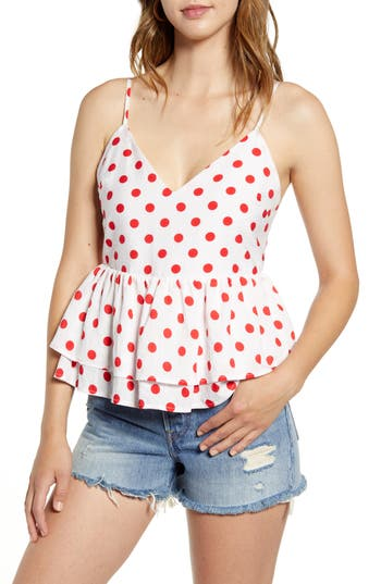 Endless Rose Red Polka Dot Tank Top