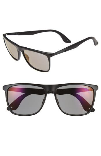 Men's Carrera Eyewear 56Mm Retro Sunglasses - Matte Black/ Copper Mirror