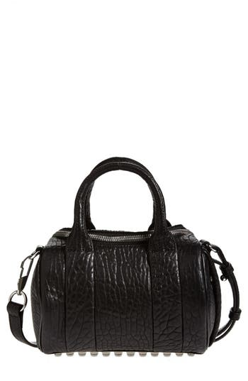 Alexander Wang 'Mini Rockie - Nickel' Leather Crossbody Satchel - Black at NORDSTROM.com